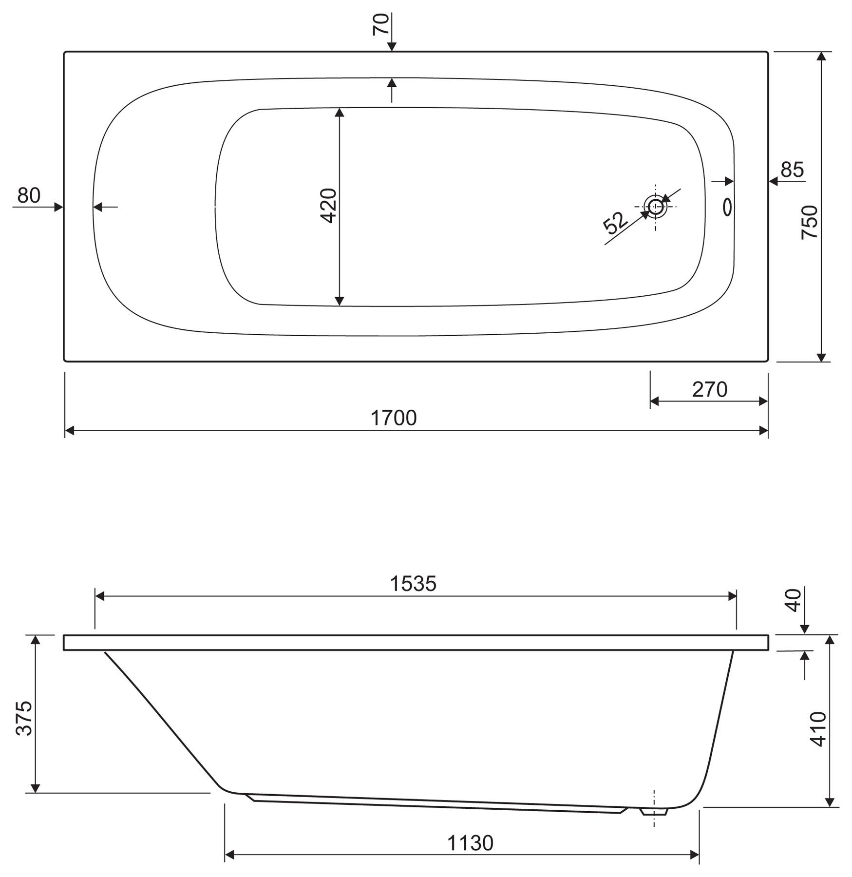 схема установки экрана на ванну нептун