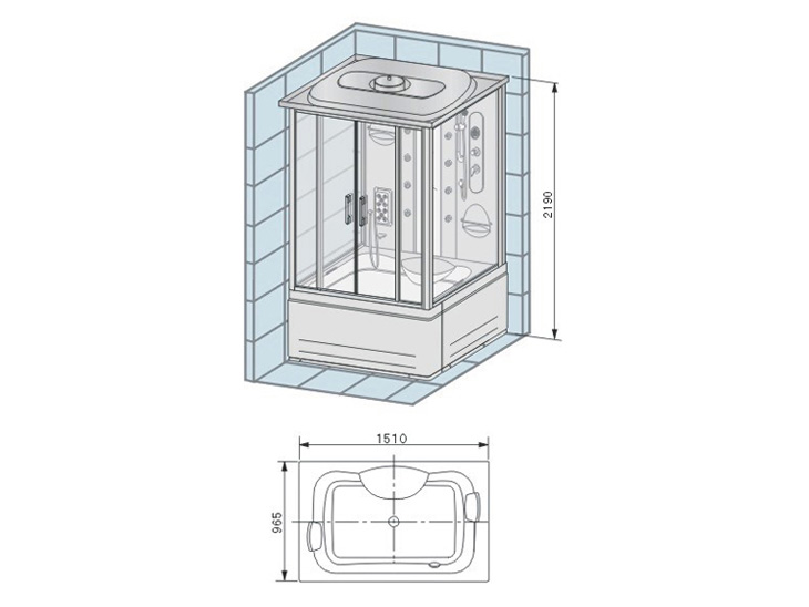 Душевая кабина Appollo TS-150W: http://www.m-vanna.ru/catalog/products/gidromassazhnye-boksy/dushevaja-kabina-appollo-ts-150w