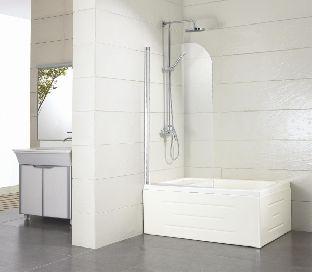 Душевая шторка на ванну Bravat ALFA BG070.5110A-1 размер 700*1500