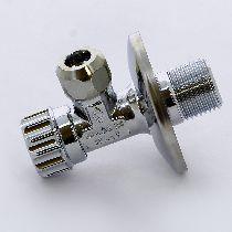 Вентиль обж-Н 10x1/2' MINNESOTA с розеткой, хромированный, для смесителей, серия 861 BUGATTI 08610003