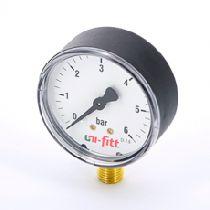 """Манометр радиальный 10 бар, диаметр 80 мм, 1/2""""Н UNI-FITT 301P3042"""