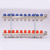 Колл.группа 1'х3/4' 10 вых с регулировочными и термостатическими вентилями UNI-FITT 32315N060510