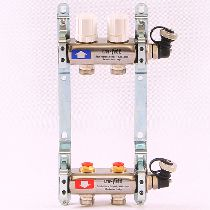 Колл.группа 1'х3/4' 2 вых с регулировочными и термостатическими вентилями, нерж. сталь UNI-FITT 32315S060502
