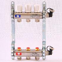 Колл.группа 1'х3/4' 3 вых с регулировочными и термостатическими вентилями, нерж. сталь UNI-FITT 32315S060503