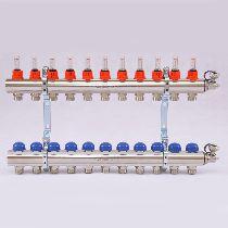 Колл.группа 1'х3/4' 11 вых с расходомерами и термостатическими вентилями UNI-FITT 32415N060511