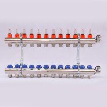 Колл.группа 1'х3/4' 12 вых с расходомерами и термостатическими вентилями UNI-FITT 32415N060512