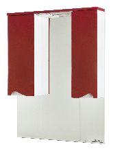 Bellezza Эйфория-100 зеркало-шкаф красное (свет.)