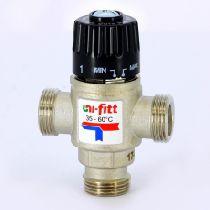 """Клапан В 3/4"""" термосмесительный 35-60?С, смешение боковое UNI-FITT 48160N167050"""