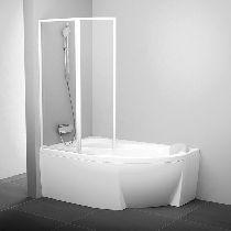 Шторка для ванны Ravak Supernova VSK2 ROSA 140 L белый прозрачное