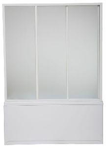 Шторка для ванны Bas 150 см 3 створчатая пластик (Бриз Верона Ибица)