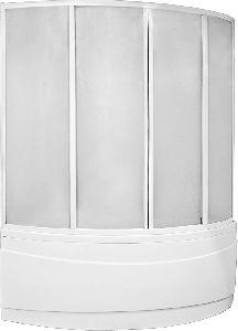 Шторка для ванны Bas Вектра 1500х1000 (пластик)