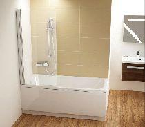 Шторка для ванны Ravak Chrome CVS1-80 L белый прозрачное