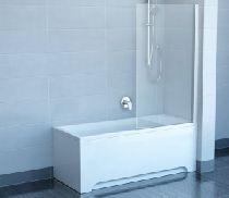 Шторка для ванны Ravak Chrome CVS1-80 R белый прозрачное