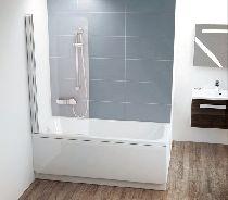 Шторка для ванны Ravak Chrome CVS1-80 L хром прозрачное