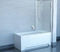 Шторка для ванны Ravak Chrome CVS1-80 L матовый хром прозрачное