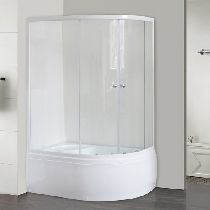 Душевой уголок Royal Bath 8120BK-T 120x80x200 профиль белый стекло прозрачное