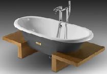 Чугунная ванна Roca NewCast WoodLine