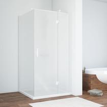 Душевой уголок Vegas Glass AFP-Fis 0080 01 10 R профиль белый, стекло сатин