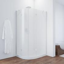 Душевой уголок Vegas Glass AFS-F 100*80 01 10 R профиль белый, стекло сатин