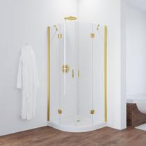 Душевой уголок Vegas Glass AFS 0080 09 01 профиль золото, стекло прозрачное