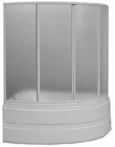 Шторка для ванны Bas Алегра 1500х1000 (4ств. пластик)