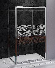 Душевой уголок Good Door ANTARES WTW-110-W-CH + SP-80-W-CH 110x80x195  стекло матовое с узором