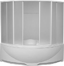 Шторка для ванны Bas Дрова 1600х1600 (пластик)