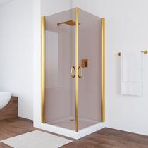 Душевой уголок  Vegas Glass EA 80*80 09 05 профиль золото стекло бронза
