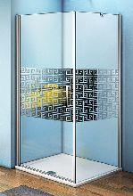 Душевой уголок Good Door FANTASY CR -80-F-CH 80x80x185  стекло матовое с узором