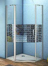 Душевой уголок Good Door FANTASY PNT -90-F-CH 90x90x185  стекло матовое с узором