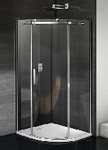 Душевой уголок Good Door Galaxy R-90-C-CH 90x90x195  стекло прозрачное