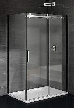 Душевой уголок Good Door Galaxy WTW-110-C-CH + SP-80-C-CH 110x80x195  стекло прозрачное