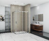 Душевой уголок Good Door INFINITY WTW-110-C-CH + SP-80 -C-CH 110x80x185  стекло прозрачное