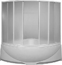 Шторка для ванны Bas Империал, Ирис 1500х1500 (пластик)