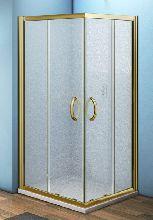 Душевой уголок Good Door JAZZE CR -80-G-BR 80x80x185  стекло матовое профиль бронза