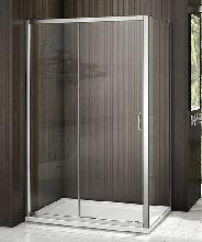 Душевой уголок Good Door LATTE WTW-110-C-WE + SP-80 -C-WE 110x80x185  стекло прозрачное
