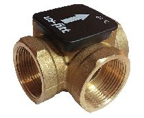Клапан В 1'1/4 3-ходовой термостатический 61гр.С Kvs 12 латунь для напольных котлов серия LK820 UNI-FITT LK820.181468