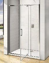 Душевой уголок Good Door ORION WTW - PD -90-C-CH + SP-80 -C-CH 90x80x185  стекло прозрачное