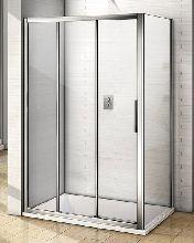Душевой уголок Good Door ORION WTW-100-C-CH + SP-80 -C-CH 100x80x185  стекло прозрачное