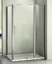 Душевой уголок Good Door PANDORA WTW110-C-CH + SP-80-С-CH 110x80x185  стекло прозрачное