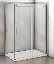 Душевой уголок Good Door Puerta WTW-110-C-CH + SP-80 -C-CH 110x80x195  стекло прозрачное