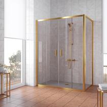 Душевой уголок Vegas Glass Z2P+ZPV 150*100 09 05 профиль золото, стекло бронза