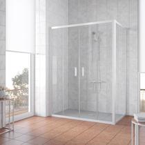 Душевой уголок Vegas Glass Z2P+ZPV 150*100 01 01 профиль белый, стекло прозрачное