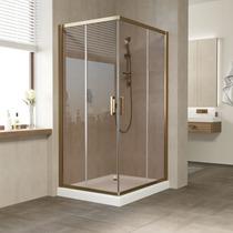 Душевой уголок Vegas Glass ZA 0110*100 05 05 профиль бронза, стекло бронза