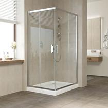 Душевой уголок Vegas Glass ZA 0110*100 08 01 профиль глянцевый хром, стекло прозрачное