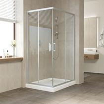 Душевой уголок Vegas Glass ZA 0110*100 07 01 профиль матовый хром, стекло прозрачное