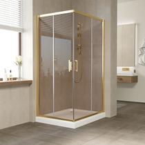 Душевой уголок Vegas Glass ZA 0110*100 09 05 профиль золото, стекло бронза