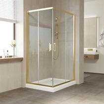 Душевой уголок Vegas Glass ZA 0110*100 09 01 профиль золото, стекло прозрачное