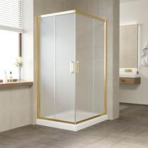 Душевой уголок Vegas Glass ZA 0110*100 09 10 профиль золото, стекло сатин