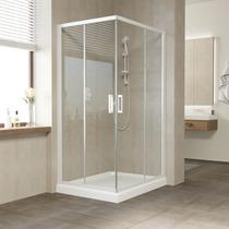 Душевой уголок Vegas Glass ZA 0110*100 01 01 профиль белый, стекло прозрачное
